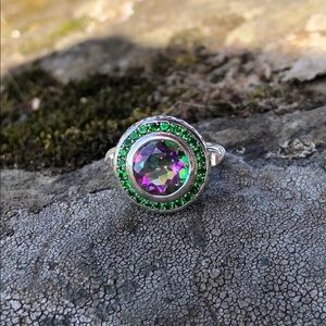 NEW! Rainbow Topaz Ring